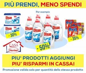 Nuova Promo Casa Henkel: più prodotti aggiungi, più risparmi in cassa!