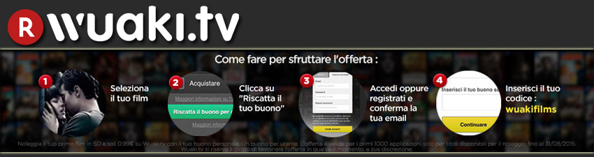 Primo film su Wuaki.tv a 0,99€: step della procedura