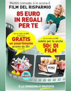 Promozioni Casa Henkel: acquistando 69€ di detersivi su casahenkel.it, ricevi in omaggio un Kit Indispensabile e se spendi 99€, 50€ in film su Chili, fino al 30/06/2017. © CasaHenkel.it © OffertaExtrema.com