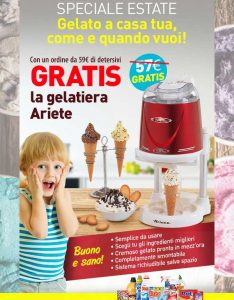 Promozioni Casa Henkel: acquistando 59€ di detersivi su casahenkel.it, ricevi in omaggio la gelatiera Ariete, fino al 14/06/2017. © CasaHenkel.it © OffertaExtrema.com