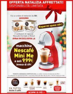 Promozioni Casa Henkel: acquistando almeno 58€ di prodotti su casahenkel.it, puoi ricevere a soli 9,99€ la macchina Nescafé Mini Me, fino al 05/12/2017. Offerta combinata con l'acquisto di due confezioni di capsule a 5,99€ l'una. © CasaHenkel.it © OffertaExtrema.com