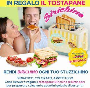 Promozioni Casa Henkel: Tostapane Birichino by Brandani gratis con un ordine di 49,99€, fino al 18/09/2016. © CasaHenkel.it