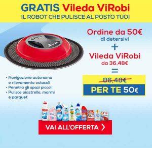 Promozioni Casa Henkel: Vileda ViRobi gratis con un ordine di 50,00€, fino al 19/10/2016. © CasaHenkel.it