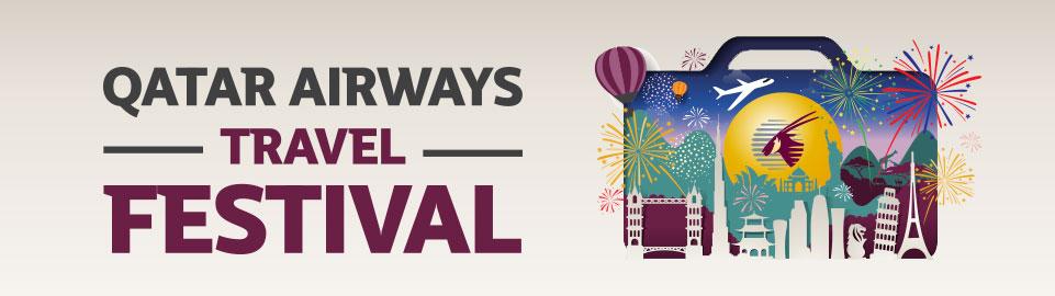 Qatar Airways Travel Festival 2017: acquista il tuo biglietto entro il 16 gennaio e risparmia fino al 50% sulle tariffe di Economy e Business Class per volare dall'11 gennaio al 15 dicembre 2017; approfitta anche delle offerte esclusive su voli, hotel e noleggio auto #QatarAirwaysTravelFestival #specialoffers © QatarAirways.com