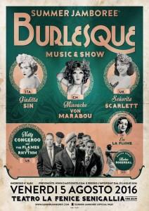 Burlesque Music&Show, Summer Jamboree 2016, Teatro La Fenice, Senigallia