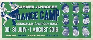 Dance Camp, Summer Jamboree 2016, dal 30 luglio al primo agosto, Senigallia