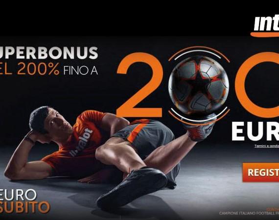 Super bonus su Intralot fino a 200€!