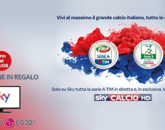 Una TV in regalo con Sky: solo se ti abboni online entro il 29/08 una tv LG 22'' in regalo!