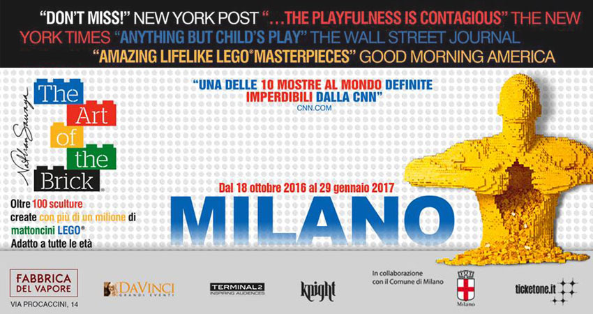 "Mostra dei Lego: arriva a Milano ""The Art Of The Brick"" dal 18 ottobre 2016 al 29 gennaio 2017 (foto © Milano Events www.milanoevents.it)"