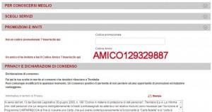 MasterPass e Trenitalia:Registrazione al programma CartaFRECCIA con Codice AMICO129329887