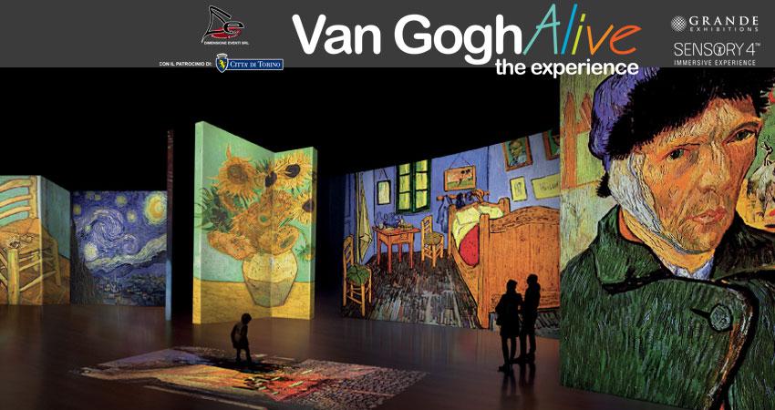 Van Gogh Alive - The Experience a Torino presso la Società Promotrice delle Belle Arti, fino al 26 giugno 2016.