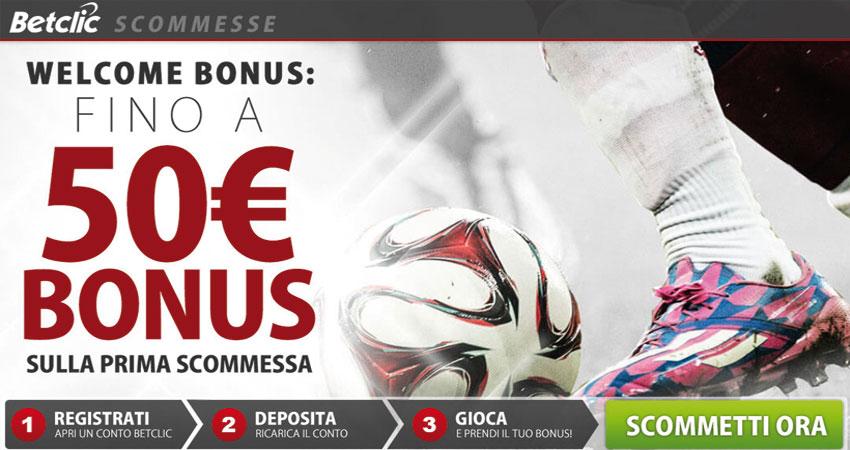 Welcome Bonus su BetClic: fino a 50€ di bonus sulla tua prima scommessa!