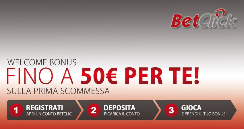 Welcome Bonus su BetClic: fino a 50€ di bonus sulla tua prima scommessa, sia se vinci sia se perdi!
