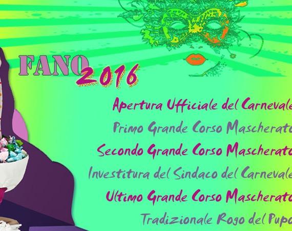 Programma Carnevale di Fano 2016