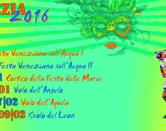 Programma Carnevale di Venezia 2016