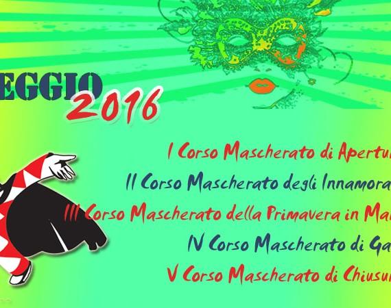 Programma Carnevale di Viareggio 2016